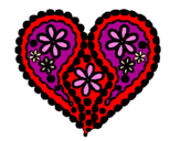Coloring page Heart of flowers painted byCole Spencer- facebook me