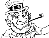 Coloring page Leprechaun painted bywlnx