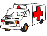 Coloring page Ambulance painted byJacob