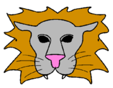 Coloring page Lion painted byyani