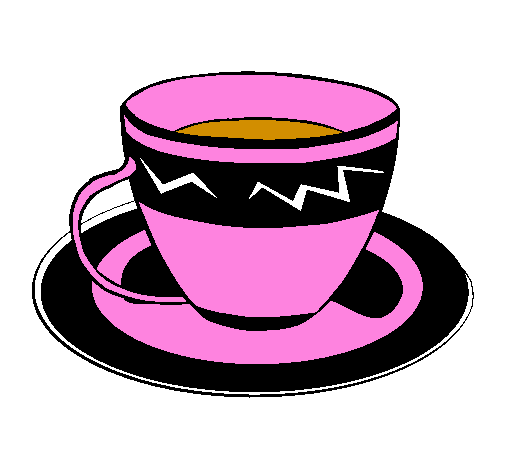 Coloring page Cup of coffee painted bycarmen