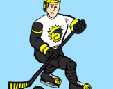 Coloring page Ice hockey player painted byWyatt
