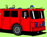 Coloring page Fire engine painted byEUGENE