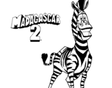 Coloring page Madagascar 2 Marty painted byzebra