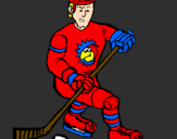 Coloring page Ice hockey player painted byJOSH