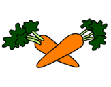 Coloring page carrots painted byKayla