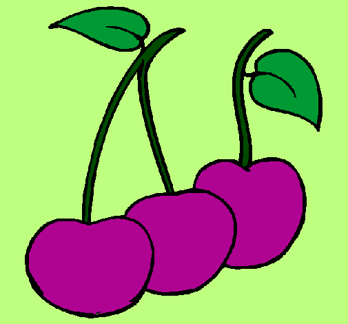 Coloring page cherries painted by..-ñ-´-çç´´
