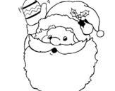 Coloring page Father Christmas waving painted byyuan
