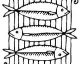 Coloring page Fish painted byMeat