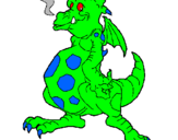 Coloring page Dragon  painted byThe God Of Freedom