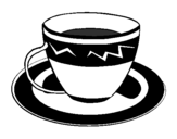 Coloring page Cup of coffee painted byhola
