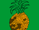 Coloring page pineapple painted byDOROTHY