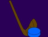 Coloring page Stick and puck painted byANGEL