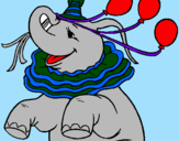 Coloring page Elephant with 3 balloons painted bymarisol salazar