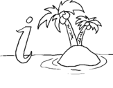 Coloring page Island painted byj