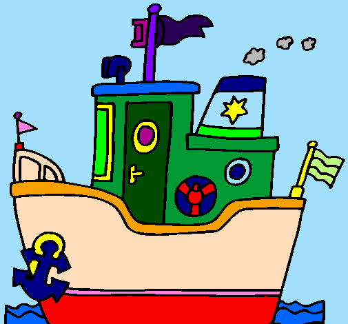 Boat with anchor