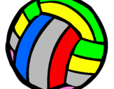 Coloring page Volleyball ball painted bymonica