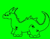 Coloring page Baby dragon painted bycynthia