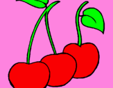 Coloring page cherries painted bymikaila
