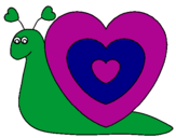 Coloring page Heart snail painted byclaudiabere
