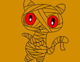Coloring page Doodle the cat mummy painted byygjhgbngnndkgnfhhjfkgkhj