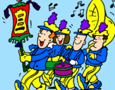 Coloring page Musical band painted byandy20