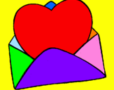 Coloring page Heart in an envelope painted byxxxxxxdfd v56u csukdyia<a