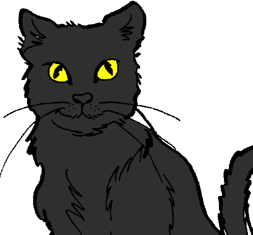 Coloring page Cat painted bymya