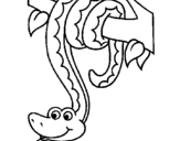 Coloring page Snake hanging from a tree painted byMadison