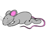 Coloring page Little rat painted bylucky189