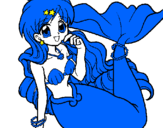 Coloring page Mermaid painted bymermaid melody Hanon