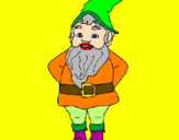 Coloring page Gnome painted byBuford the red