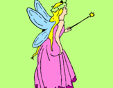 Coloring page Fairy with long hair painted byTOTTY