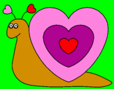 Coloring page Heart snail painted bySTEPHANIE