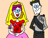 Coloring page Royal wedding painted bylika