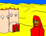 Coloring page Morocco painted byanonymous