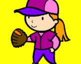 Coloring page Baseball player painted byisis