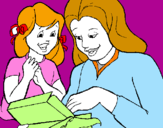Coloring page Mother and daughter painted byShianne