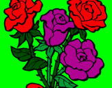 Coloring page Bunch of roses painted byBRITTANY