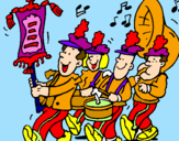 Coloring page Musical band painted bydesfile weon!!!!!!!