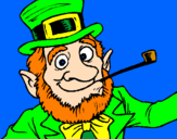 Coloring page Leprechaun painted byMommy