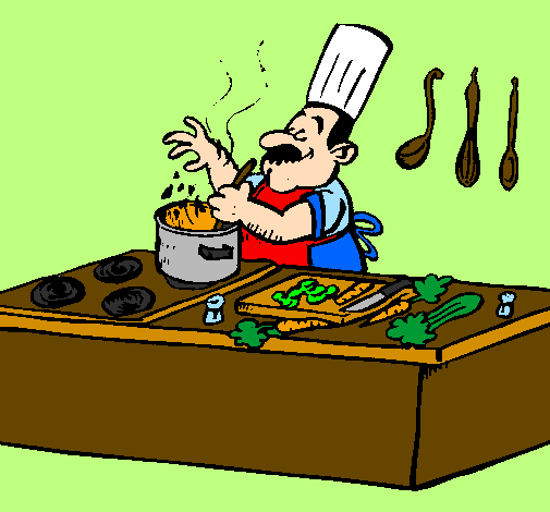 Coloring page Cook in the kitchen painted bynice1970