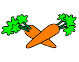 Coloring page carrots painted byrads