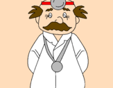 Coloring page Veteran doctor painted byjulian