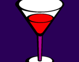 Coloring page Cocktail painted byMarcella