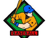Coloring page Baseball logo painted byJOSH