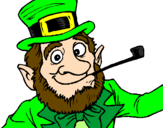 Coloring page Leprechaun painted byjose juan
