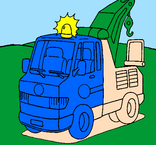 Coloring page Tow truck painted byomj90