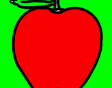 Coloring page apple painted bydaniel