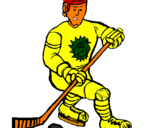 Coloring page Ice hockey player painted byivo